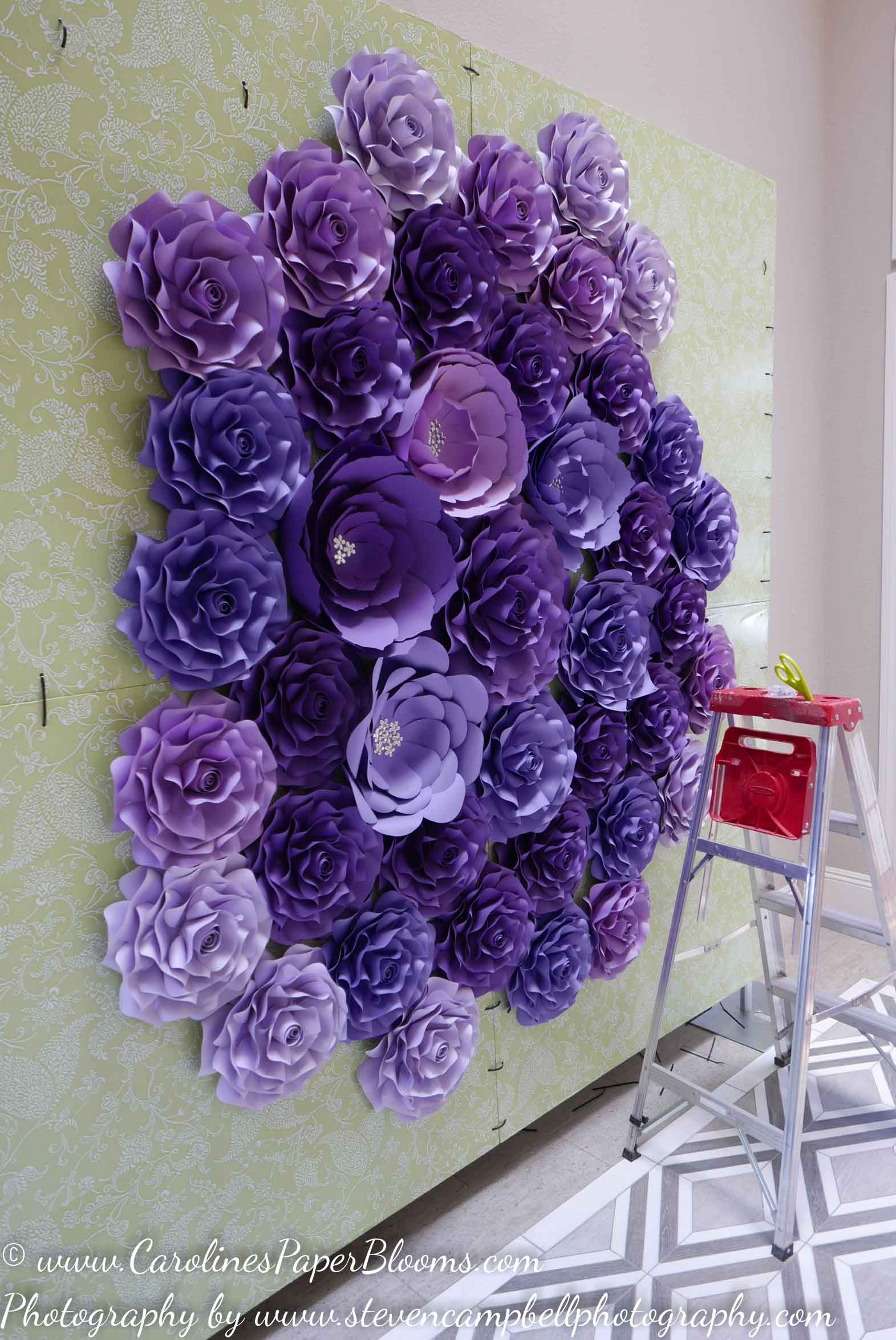 Custom Paper Flower Walls and Photography Backdrops