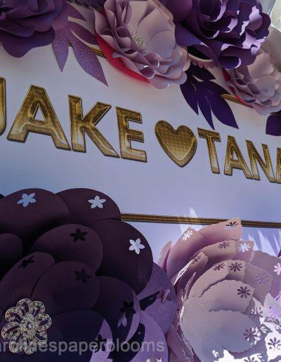 Jake Paul Tana Mongeau Wedding 2019 - Carolines Paper Blooms Paper Flower Wall Backdrop Las Vegas NV-1