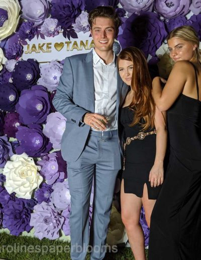 Jake Paul Tana Mongeau Wedding 2019 - Carolines Paper Blooms Paper Flower Wall Backdrop Las Vegas NV-43