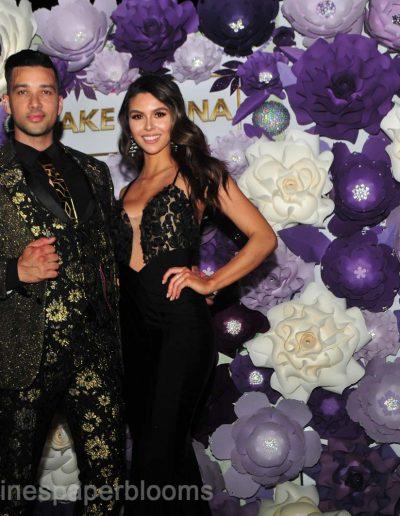 Jake Paul Tana Mongeau Wedding 2019 - Carolines Paper Blooms Paper Flower Wall Backdrop Las Vegas NV-66
