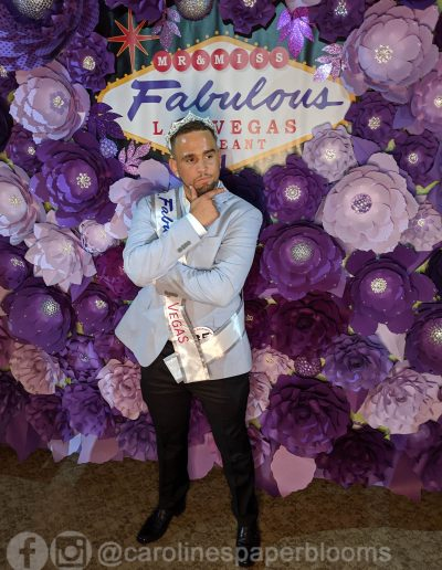Miss Fabulous Las Vegas 2019 - Carolines Paper Blooms Paper Flower Wall Backdrop Las Vegas NV Miss Fabulous Las Vegas 2019-10