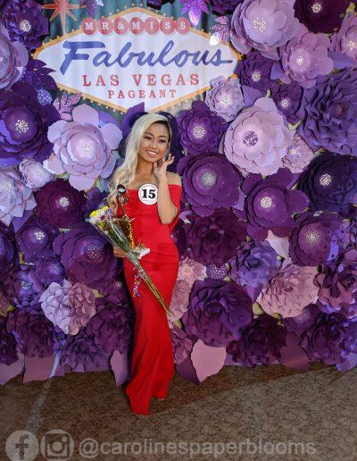 Miss Fabulous Las Vegas 2019 - Carolines Paper Blooms Paper Flower Wall Backdrop Las Vegas NV Miss Fabulous Las Vegas 2019-14