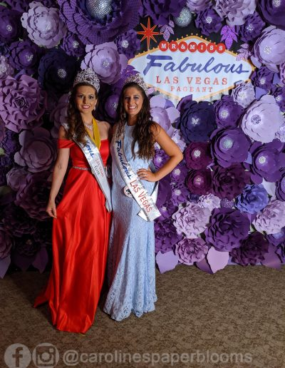 Miss Fabulous Las Vegas 2019 - Carolines Paper Blooms Paper Flower Wall Backdrop Las Vegas NV Miss Fabulous Las Vegas 2019-15