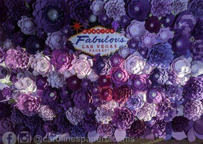 Miss Fabulous Las Vegas 2019 - Carolines Paper Blooms Paper Flower Wall Backdrop Las Vegas NV Miss Fabulous Las Vegas 2019-16