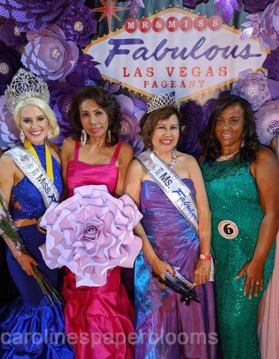 Miss Fabulous Las Vegas 2019 - Carolines Paper Blooms Paper Flower Wall Backdrop Las Vegas NV Miss Fabulous Las Vegas 2019-2