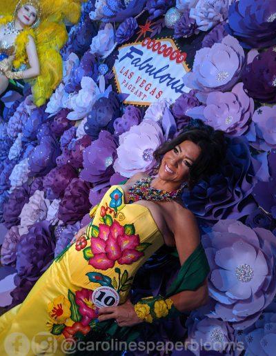 Miss Fabulous Las Vegas 2019 - Carolines Paper Blooms Paper Flower Wall Backdrop Las Vegas NV Miss Fabulous Las Vegas 2019-20