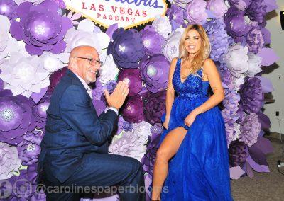 Miss Fabulous Las Vegas 2019 - Carolines Paper Blooms Paper Flower Wall Backdrop Las Vegas NV Miss Fabulous Las Vegas 2019-23