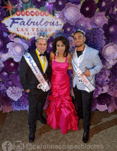 Miss Fabulous Las Vegas 2019 - Carolines Paper Blooms Paper Flower Wall Backdrop Las Vegas NV Miss Fabulous Las Vegas 2019-5