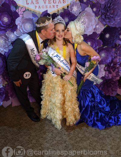 Miss Fabulous Las Vegas 2019 - Carolines Paper Blooms Paper Flower Wall Backdrop Las Vegas NV Miss Fabulous Las Vegas 2019-7