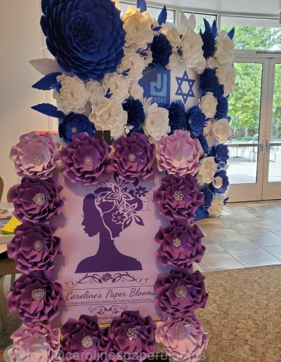 Caroline's Paper Blooms - Paper Flower Wall Backdrop Rentals and
