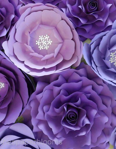 Caroline's Paper Flowers Paper Flower Wall Backdrop Rentals Sale