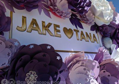 Jake Paul Tana wedding 2019 - Carolines Paper Blooms Paper Flower Wall Backdrop Las Vegas NV Miss Fabulous Las Vegas 2019-1