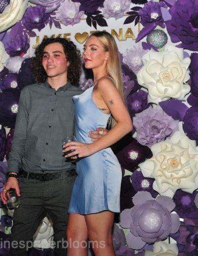 Jake Paul Tana wedding 2019 - Carolines Paper Blooms Paper Flower Wall Backdrop Las Vegas NV Miss Fabulous Las Vegas 2019-10