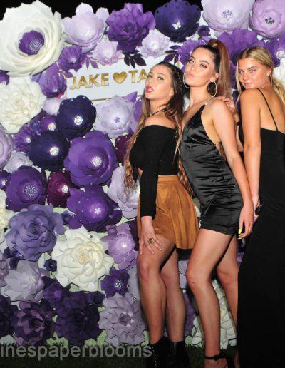 Jake Paul Tana wedding 2019 - Carolines Paper Blooms Paper Flower Wall Backdrop Las Vegas NV Miss Fabulous Las Vegas 2019-12