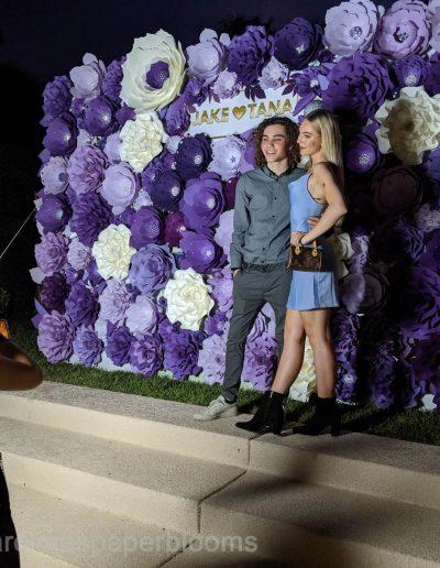 Jake Paul Tana wedding 2019 - Carolines Paper Blooms Paper Flower Wall Backdrop Las Vegas NV Miss Fabulous Las Vegas 2019-13