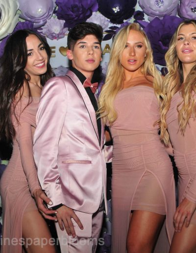 Jake Paul Tana wedding 2019 - Carolines Paper Blooms Paper Flower Wall Backdrop Las Vegas NV Miss Fabulous Las Vegas 2019-14