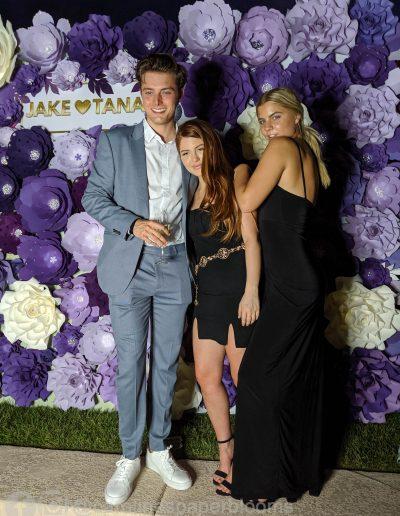 Jake Paul Tana wedding 2019 - Carolines Paper Blooms Paper Flower Wall Backdrop Las Vegas NV Miss Fabulous Las Vegas 2019-15