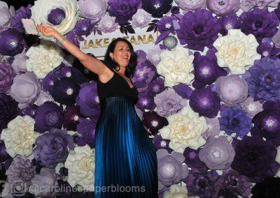 Jake Paul Tana wedding 2019 - Carolines Paper Blooms Paper Flower Wall Backdrop Las Vegas NV Miss Fabulous Las Vegas 2019-17