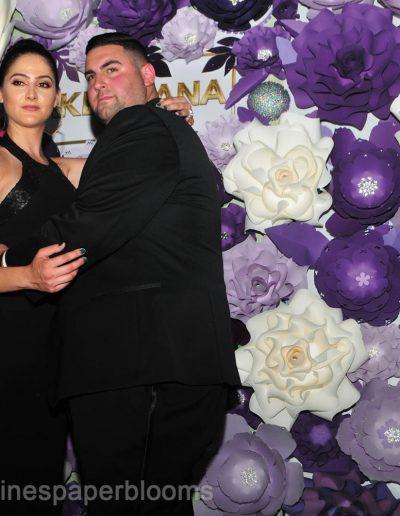 Jake Paul Tana wedding 2019 - Carolines Paper Blooms Paper Flower Wall Backdrop Las Vegas NV Miss Fabulous Las Vegas 2019-18