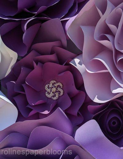 Jake Paul Tana wedding 2019 - Carolines Paper Blooms Paper Flower Wall Backdrop Las Vegas NV Miss Fabulous Las Vegas 2019-2