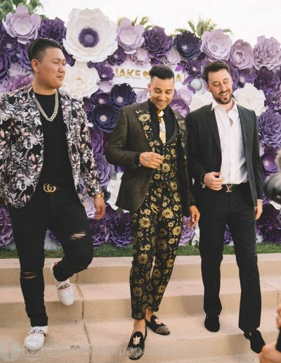 Jake Paul Tana wedding 2019 - Carolines Paper Blooms Paper Flower Wall Backdrop Las Vegas NV Miss Fabulous Las Vegas 2019-22