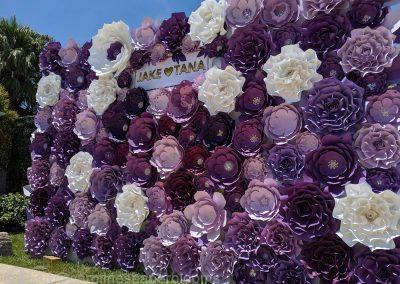 Jake Paul Tana wedding 2019 - Carolines Paper Blooms Paper Flower Wall Backdrop Las Vegas NV Miss Fabulous Las Vegas 2019-3