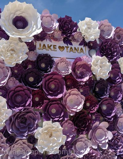 Jake Paul Tana wedding 2019 - Carolines Paper Blooms Paper Flower Wall Backdrop Las Vegas NV Miss Fabulous Las Vegas 2019-4