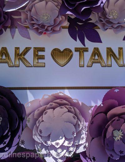 Jake Paul Tana wedding 2019 - Carolines Paper Blooms Paper Flower Wall Backdrop Las Vegas NV Miss Fabulous Las Vegas 2019-5