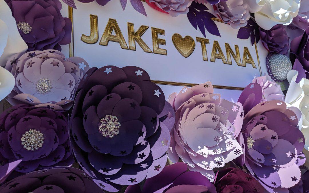 Jake Paul Tana Mongeau Las Vegas Wedding Paper Flower Wall Backdrop