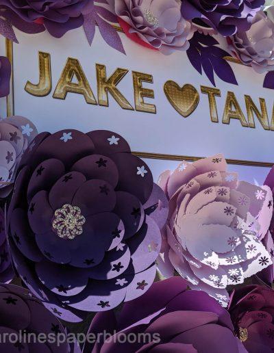 Jake Paul Tana wedding 2019 - Carolines Paper Blooms Paper Flower Wall Backdrop Las Vegas NV Miss Fabulous Las Vegas 2019-6