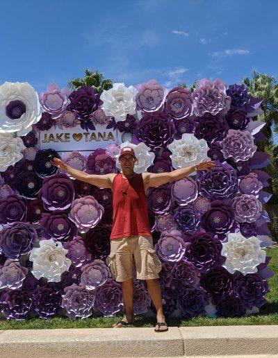 Jake Paul Tana wedding 2019 - Carolines Paper Blooms Paper Flower Wall Backdrop Las Vegas NV Miss Fabulous Las Vegas 2019-7